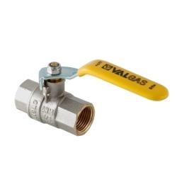 "Кран шаровой газовый VALTEC VALGAS, стальная рукоятка 1/2"" вн.-вн."