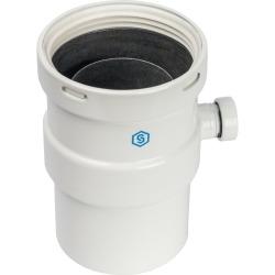 STOUT Элемент дымохода вертикальный  D80  п/м с патрубком для отвода конденсата