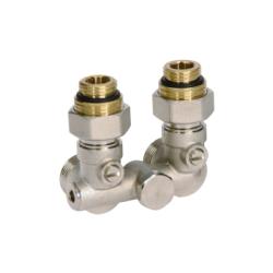 Комплект нижнего подключения угловой R 1/2 для однотрубных систем отопления