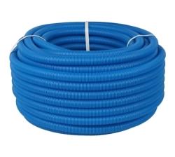 Труба гофрированная ПНД STOUT цвет синий